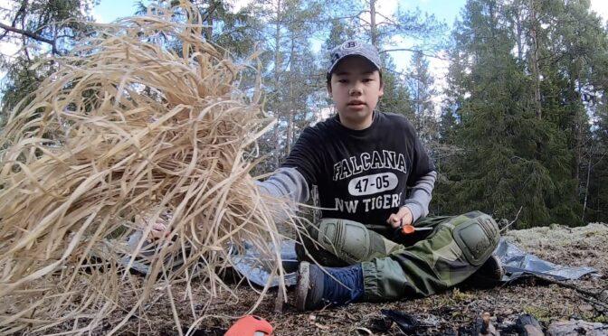 Starta eld med fjolårsgräs [Video]